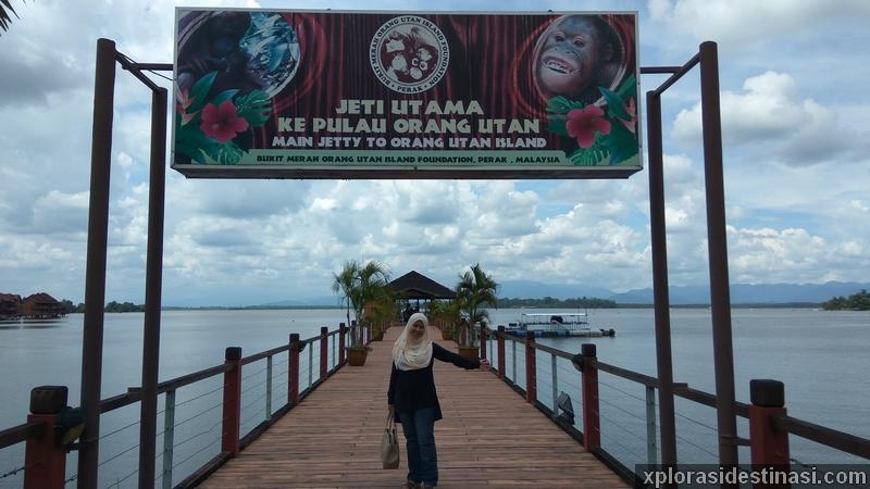 Jeti utama ke Pulau Orang Utan Perak