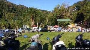Kawasan parking di Taman Botani Penang
