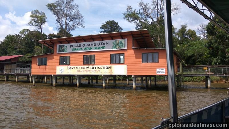 Pusat penjagaan orang utan di Orang Utan Island Bukit Merah