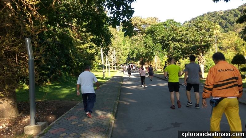 Ramai yang berjogging pagi pagi di Taman Botani Pulau Pinang