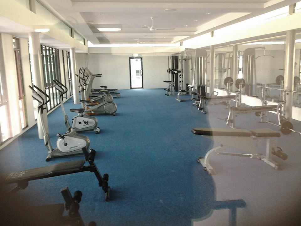kemudahan-gym-untuk-pengunjung-homestay-kk
