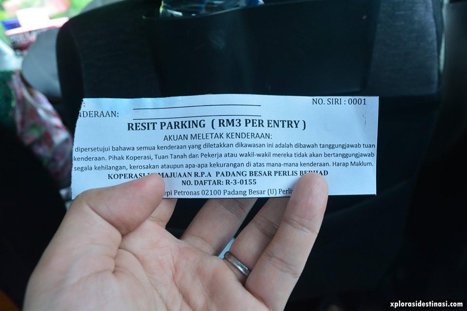 tiket-parking-padang-besar