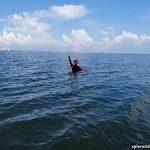 Aktiviti mandi laut dan melihat penyu di Pantai Tanjung Gemok, Port Dickson